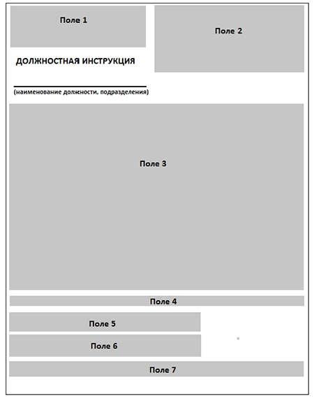 Оформление должностных инструкций пример